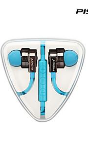 pisen의 고음질는 인 - 이어 아이폰, 아이팟, 아이 패드와 마이크 원격으로 평면 와이어 꼬임이없는 헤드폰 이어폰