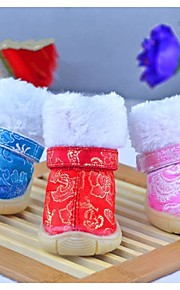 FUN OF PETS® Fashion Christmas/Festival Traditonal Embroidery Dogs Shoes for Pets Dogs Pet Products(Assiorted Sizes)