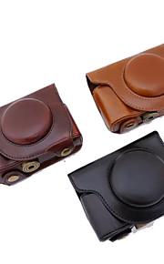 dengpin pu câmera capa de couro caso bolsa com alça de ombro para Olympus sh-sh 2-1 (cores sortidas)