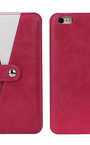 granatsplinter beslag magnetiske aftagelige ægte læder pung tilfælde med kortpladser til iPhone 6 / iPhone 6s