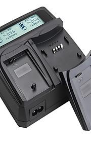 lvsun® camcorder dubbele lader met LCD-scherm snel opladen voor canon eos