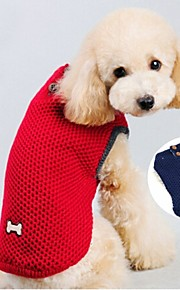 FUN OF PETS® Blue/Red Solid Colors Bones Pattern Sweater Dogs Clothes for Pets Puppy Clothing