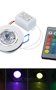 3W LED RGB Spotlight / Ceiling Lamp w/ Remote Controller (AC 85~265V)