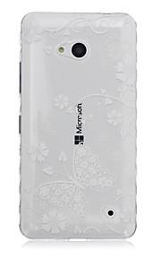 caja transparente teléfono material de TPU del patrón de mariposa para Nokia N640