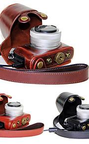 dengpin pu de couro da câmera caso saco de cobrir com alça de ombro para GM5 Panasonic Lumix gm1s gm2 (cores sortidas)