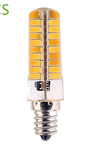 5pcs E14 / G4 / E17 / E12 12W 80SMD 5730 1200 LM Warm White / Cool White T Dimmable / Decorative Corn Bulbs AC 110-130 V