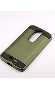 armadura franja trefilado estuche rígido de la PC + del silicón de la cubierta de la piel para Motorola MOTO x 3