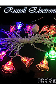 4M 20 LED Christmas Small Bell Shape String Fairy Light Christmas Xmas ideal