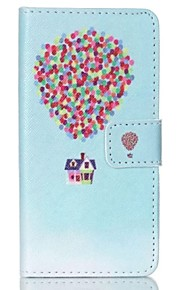 Balloon House Painted PU Phone Case for Sony Xperia Z5 Compact