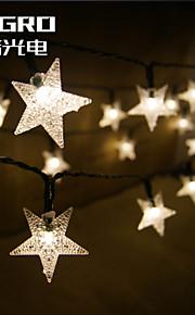 Король ро солнечной 15ft 20LED форме звезды Рождественская елка декор легкой водонепроницаемой наружной праздник света