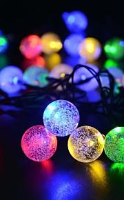 King Ro solar 16.54ft 20LED Christmas Ball Light Outdoor Waterproof String Light