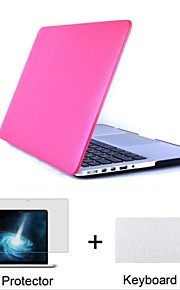 "3 in 1  Leatherette top Surface Hard Shell Case for  Macbook Air Pro Retina 11""/13""/15""+Keyboard Cover+Screen protector"