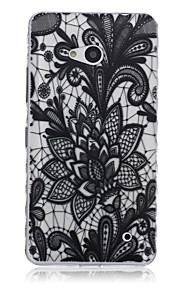 patrón de loto negro caja del teléfono del tpu material para Nokia N640