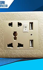 USB зарядка розетка также (caeved золотой)