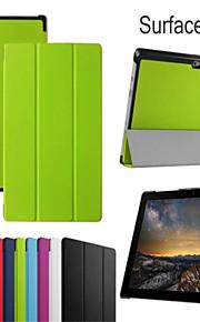 beschermende tablet gevallen leder gevallen beugel holster voor Microsoft Surface 3
