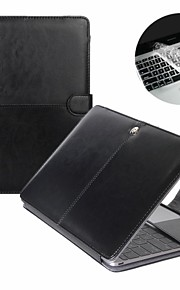 Fashion PU Leather Laptop Case For  Macbook Pro Air Retina 11  13 15 inch with Transparent Keyboard Cover Protecter
