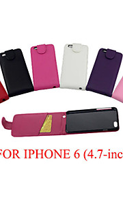 PU Leather up down flip mobile skin case Cover Card slot For iPhone 6/6S(Assorted Color)