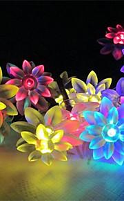konge ro solar 21.32ft 30led lotus fancy bryllupsfesten dekorasjon lys utendørs vanntett string lys