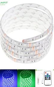 5m 75W 300x5050 rgb SMD LED DC12V IP68 vanntett stripe lys + 10key fjernkontroll rgb + 12v 2a makt AC100-240V