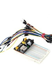 400-Hole Mini Breadboard + Power Supply Module + 65 Jump Wires Kit for DIY / Arduino