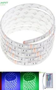 5m 75W 300x5050 rgb SMD LED DC12V IP68 vanntett stripe lys + 44key fjernkontroll rgb + 12v 2a makt AC100-240V