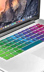 Spanish European version Bright Silicone Keyboard Cover Skin for MacBook Air 13.3, MacBook Pro With Retina 13 15 17