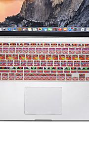 bohemisk stil design silikon tangentbord täcker flår för macbook air 13,3, MacBook Pro med Retina 13 15 17 oss layout