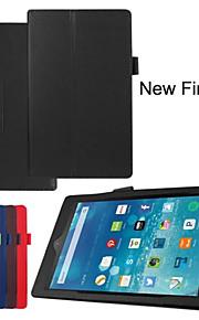 folio slim fit premie pu lederen case cover voor Amazon nieuwe vuur hd 8 2015 tablet (verschillende kleuren)