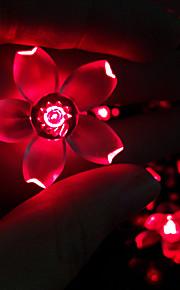 konge ro solar 21.32ft 30led fancy julebord dekorasjon lys utendørs vanntett hage streng lys