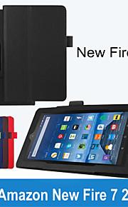 folio slim fit premie pu lederen case cover voor Amazon nieuwe brand 7 2015 tablet (verschillende kleuren)