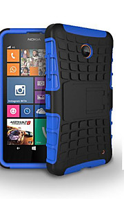 2 in 1 Dual-color Detachable PC+TPU Hybrid Case with Kickstand For Nokia Lumia 630/635(Assorted Colors)