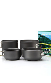 SY201  2-3 People Camping  Portable  Jacketed Kettle  4 Sets