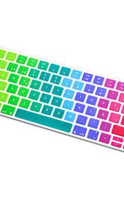 spanska språket regnbåge ljus ultra tunn silikon tangentbord hud täckning för magiska tangentbord 2015 version eu layout