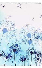 Blue Dandelion Pattern Standoff Protective Case for iPad Mini 4
