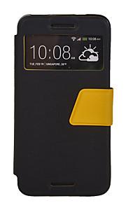seda patrón de un solo color calidad ventana de la caja de cuero de la PU para HTC M7 / M8 / M8 M9 // Mini (colores surtidos)