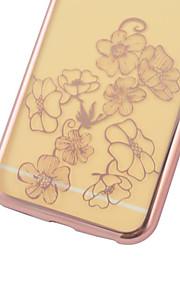 iphone6에 대한 다시 케이스 꽃이 전기 도금 TPU 플러스 / 6S 플러스