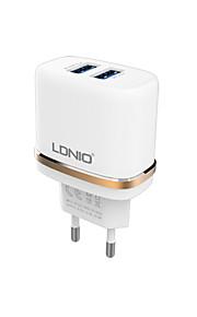 ldnio&dl-AC52 adattatore del caricatore porte USB spina di UE per dispositivi smartphone Samsung