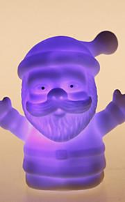 färgstarka jultomten formade natten LED-ljus
