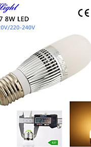 1pcs youoklight® E14 8W 700lm 28-2835smd 3000K בהירות גבוהה&45,000h החיים הארוך הוביל אור ac110-120v / 220-240V