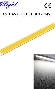 youoklight® 6st diy 18W 1700lm 6500K integrerad cob ledde vitt ljus bar - silver + gul (DC12 ~ 14V)