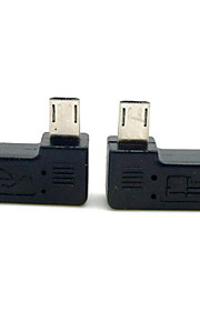 CY® Left and Right Turning Male Micro USB to Female Micro USB Adapter for Cellphone