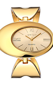 Weiqin ® bracelete das mulheres relógios personalidade de marcação oval relógio de pulso roupas para senhoras de moda de luxo de