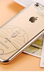 만화 패턴 아이폰 6 기가 소프트 TPU 휴대 전화 세트 도금