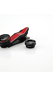 newest clip 185 degree fisheye 0.65x wide angle 10x macro lens 3 in one lens kit smartphone camera lens