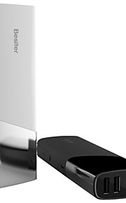 Besiter 10000mAh Ultra Thin External Backup Battery Large Capacity for Iphone 6s Plus Ipad Xiaomi Huawei Samsung