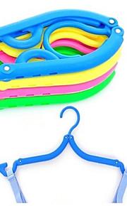 2 pièces portable pliage des vêtements antidérapantes crémaillère magique (couleur rondom)