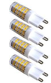 4pcs kakanuo הוביל 51x2835smd 3.5w אור G9 300-320lm אורות דקורטיביים לבנים חמים דו-סיכת ac220-240v
