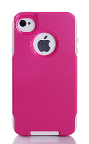 protezione eccellente tpu + pc 2in1 combo guscio copertura protettiva per iphone 4 / 4s (colori assortiti)