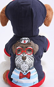 Dog Hoodies - XS / S / M / L - Spring/Fall - Blue - Waterproof / Fashion - Cotton