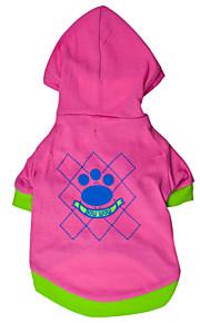 Hunde - Winter - Baumwolle - Modisch - Rosa / Rose - Kapuzenshirts - XS / S / M / L